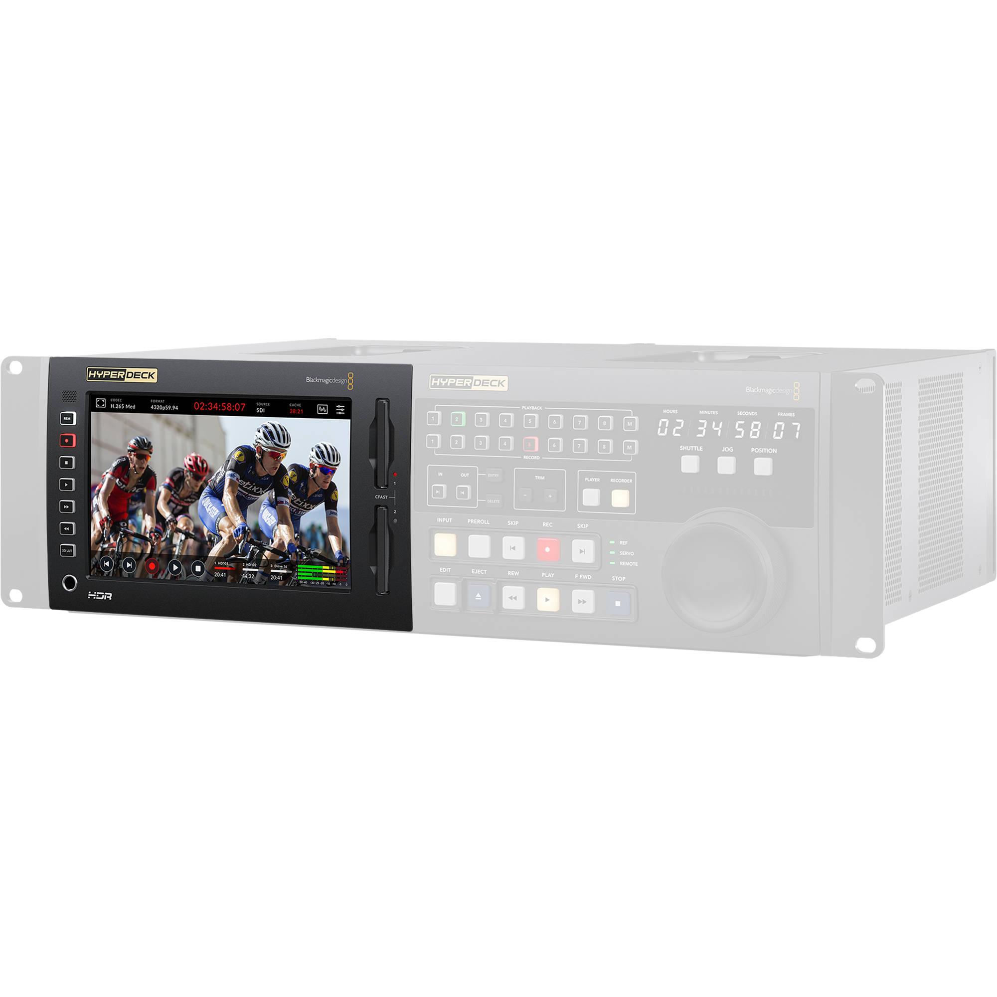 2 Blackmagic Design Hyperdeck Studio Pro 2 With Pc Power Cord 6 Xlr Xlr Cable Bundle Accessories Vtr Decks