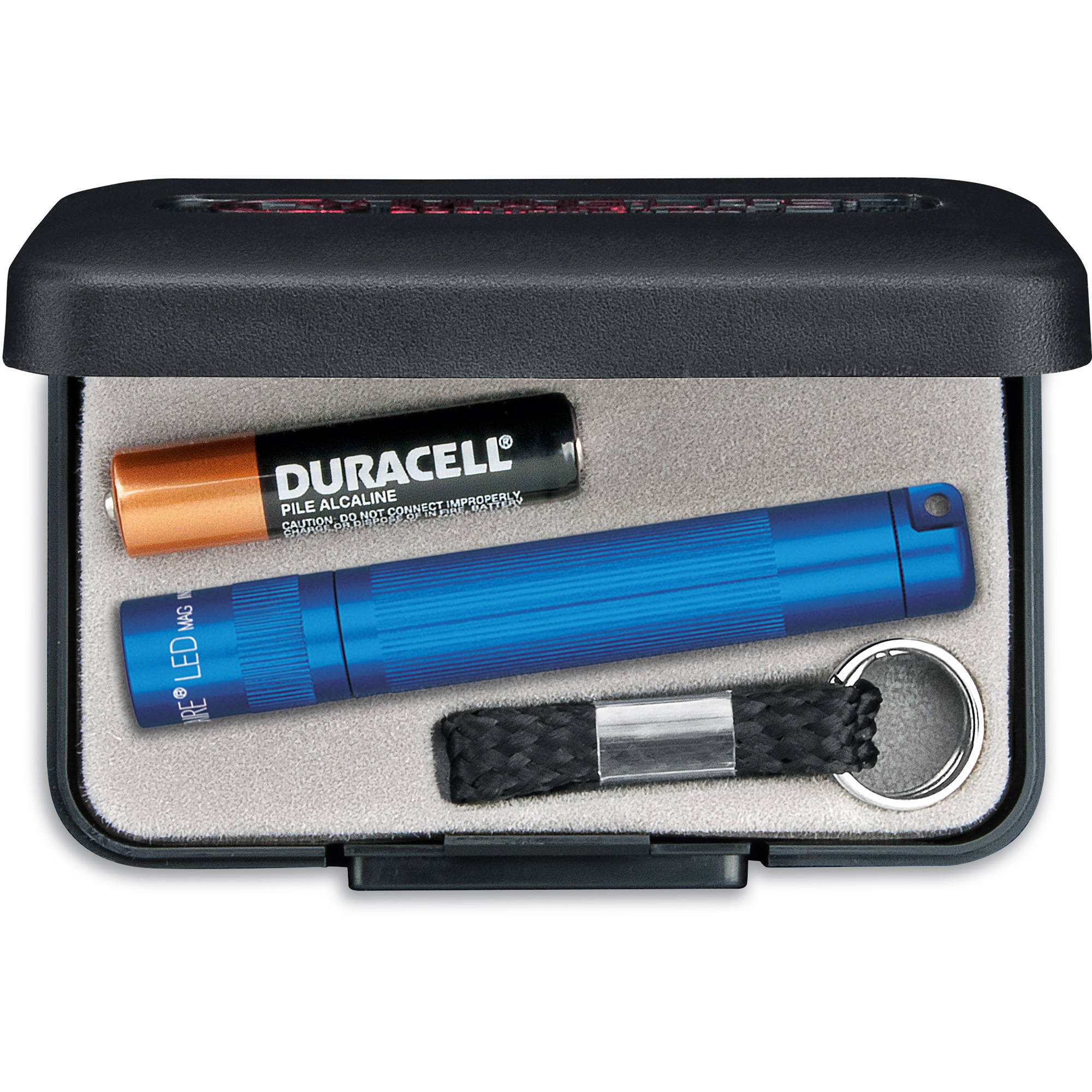 Blue Maglite AAA Torch Gift Boxed with AAA Battery Solitaire Keychain Torch