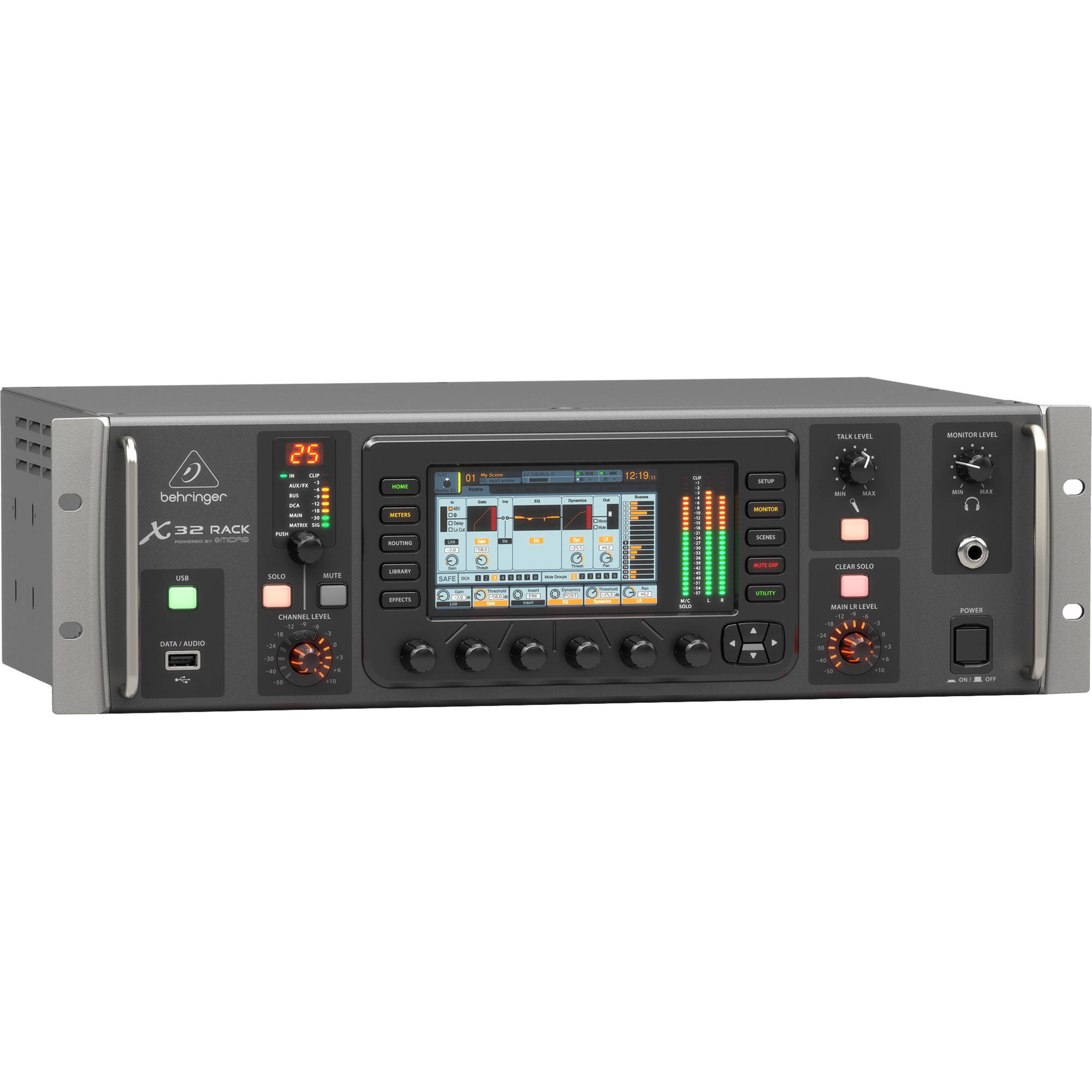 Behringer X32 Rack 40-Input, 25-Bus Digital Mixer with 16 Microphone Preamps