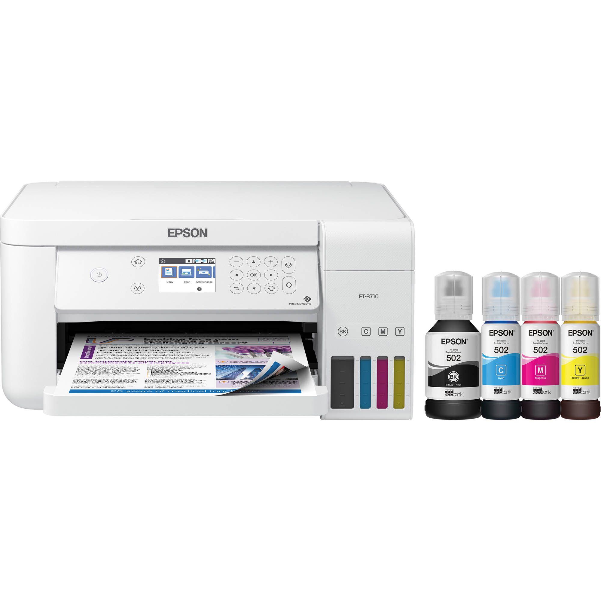 Epson EcoTank ET-3710 All-in-One Supertank Printer (White)