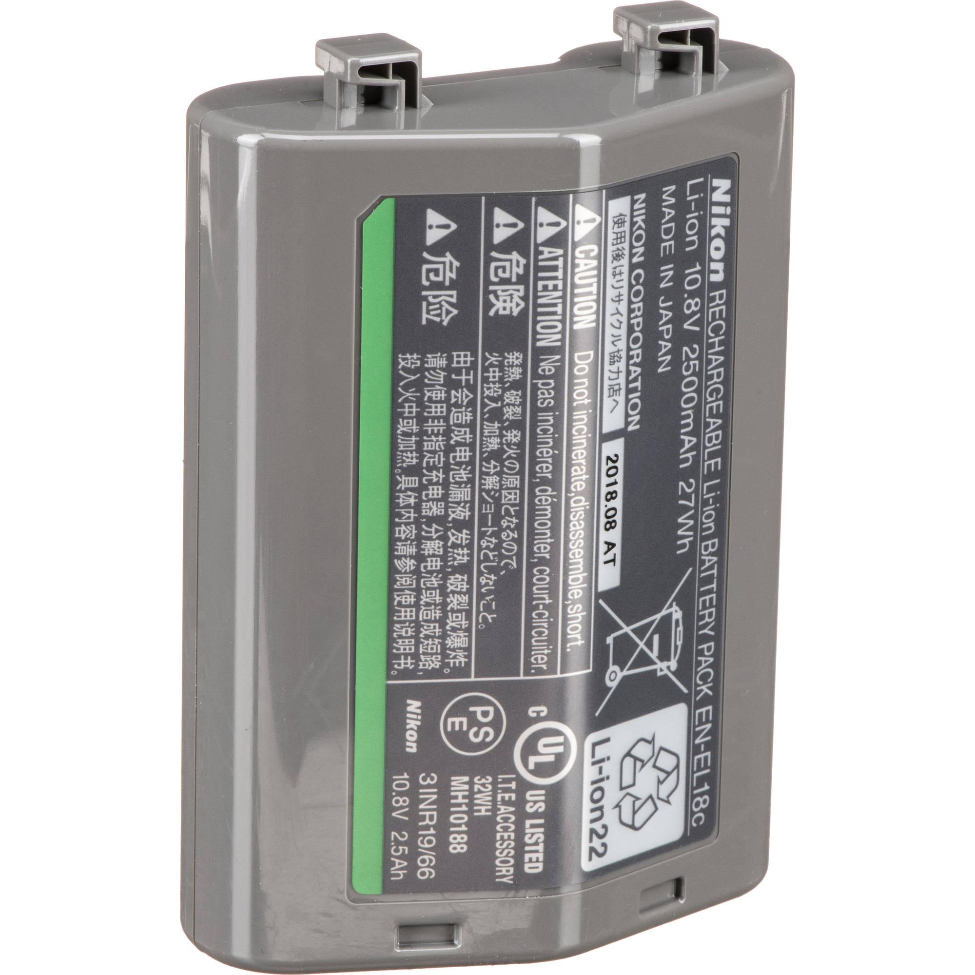 Nikon EN-EL 18c Rechargeable Lithium-Ion Battery (10 8V, 2500mAh)
