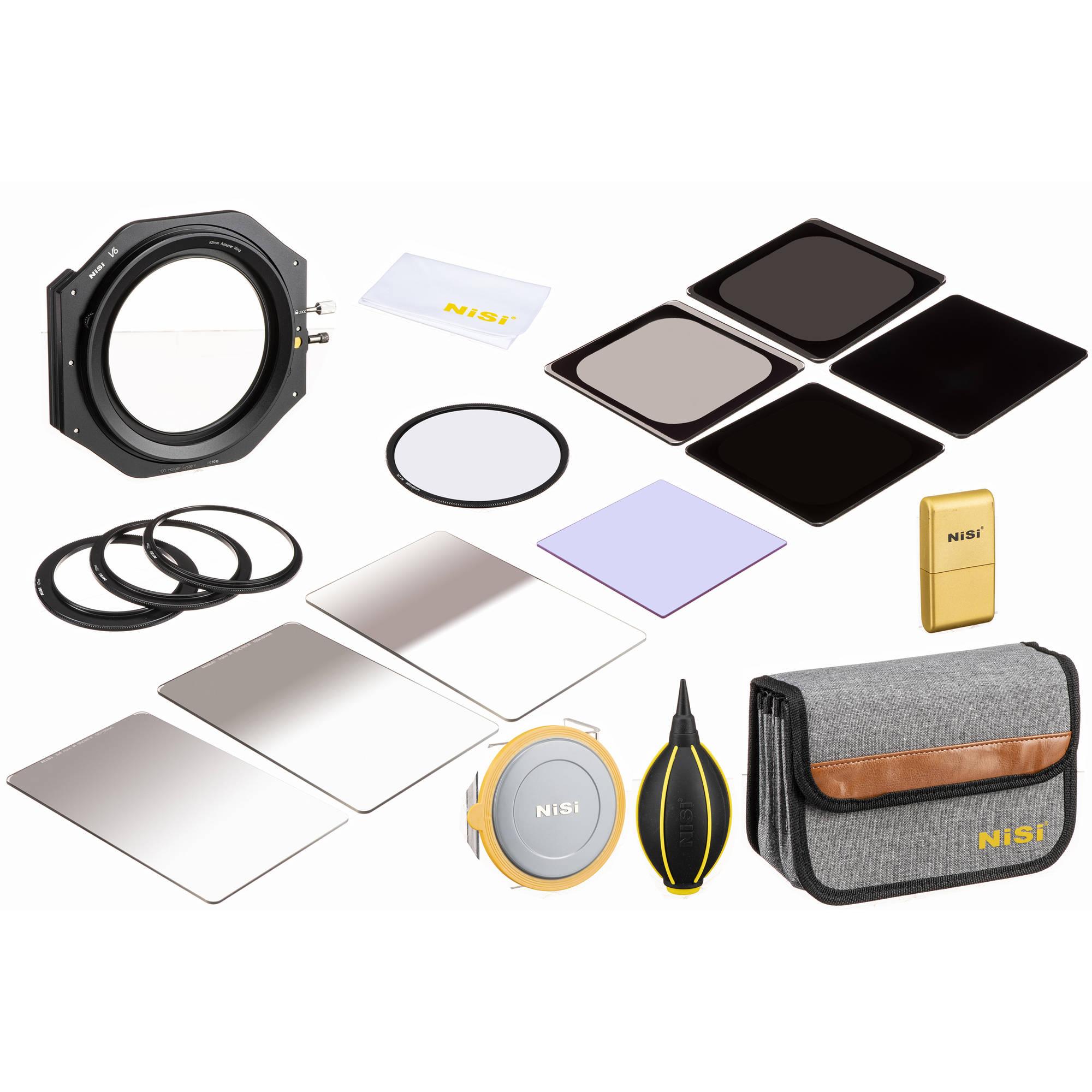NiSi Filterhalter Kit für 100mm V5 Pro mit 86mm Landscape CPL Pol Filter