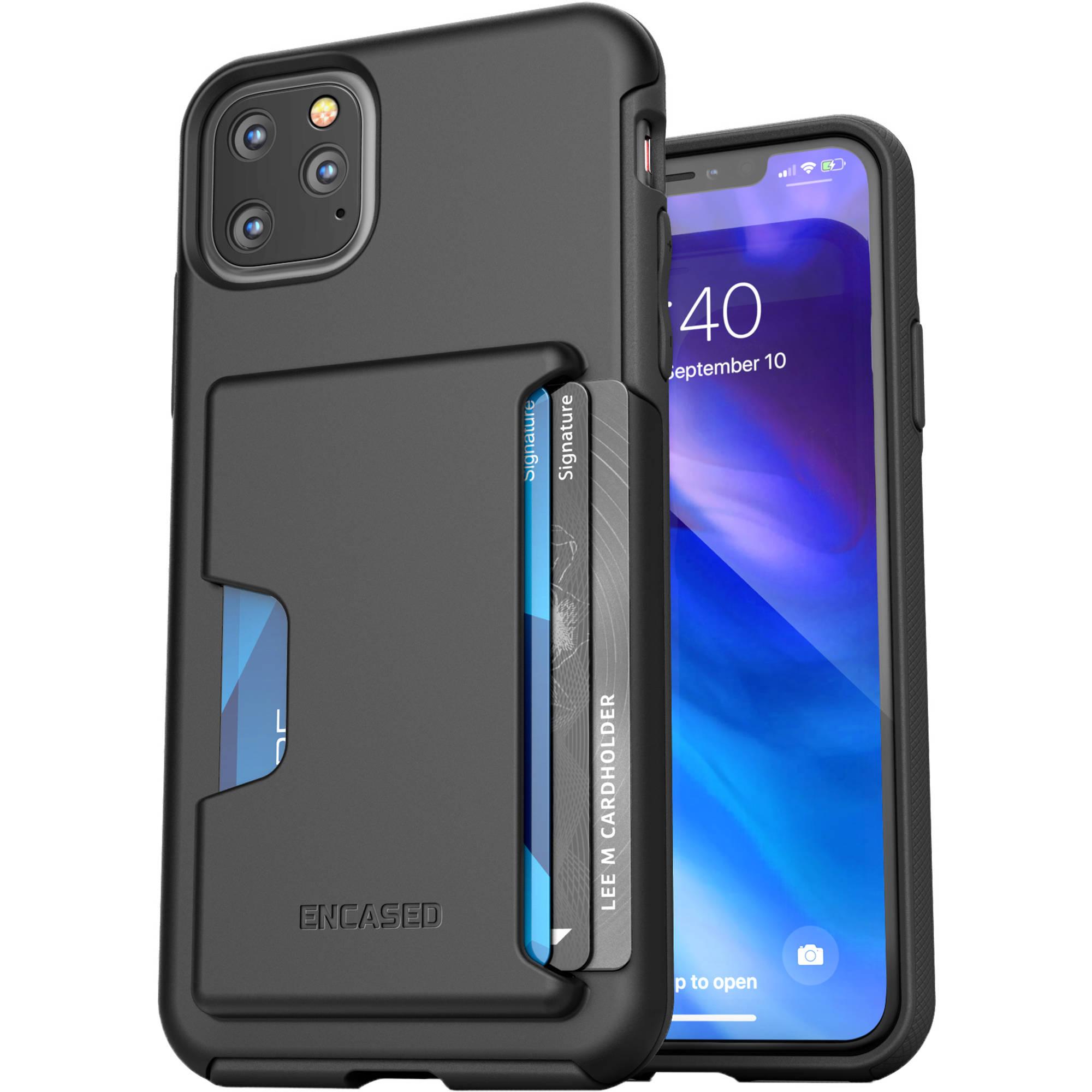 Encased Phantom Wallet Case for iPhone 11 Pro Max (Black)