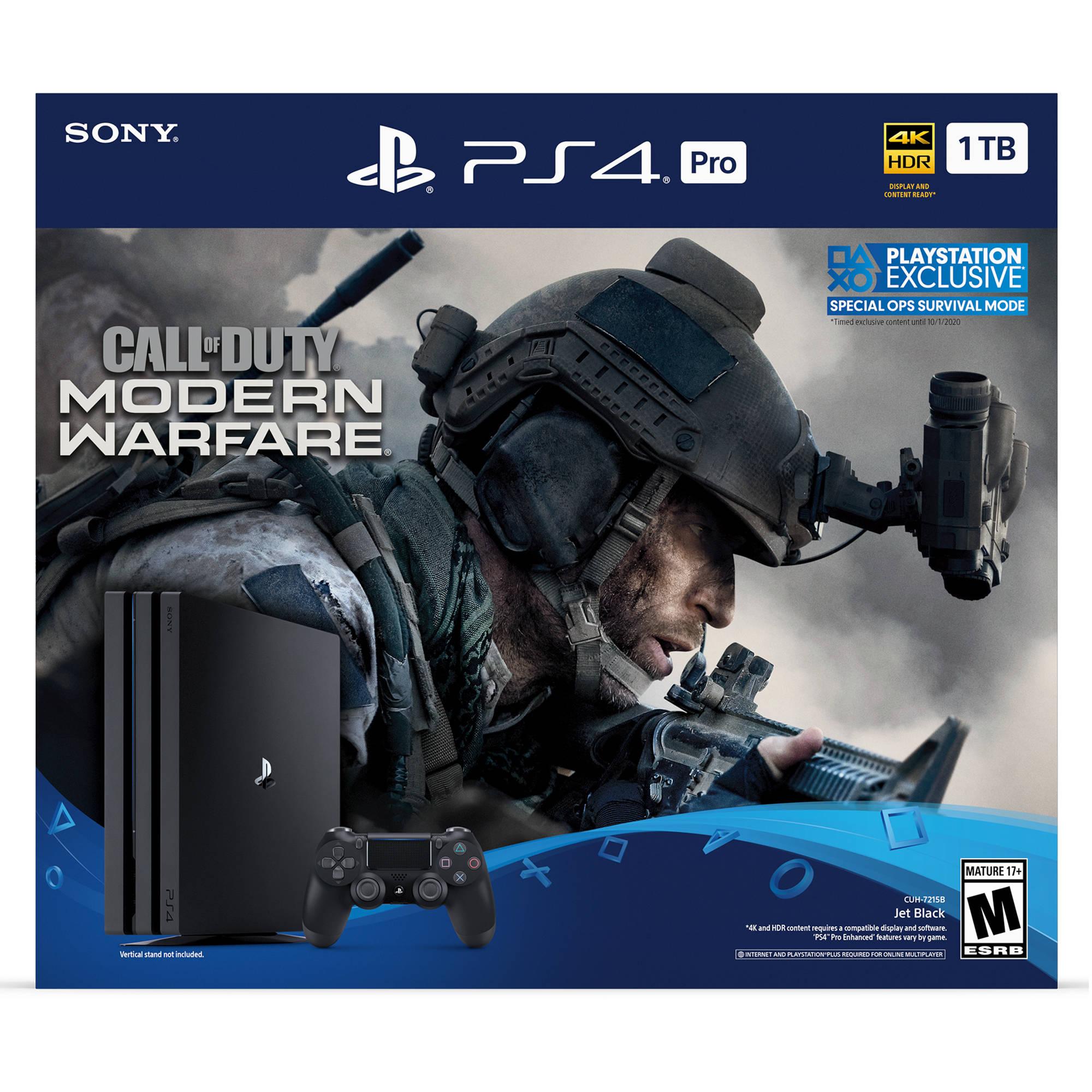 Sony Call Of Duty Modern Warfare Ps4 Pro Bundle