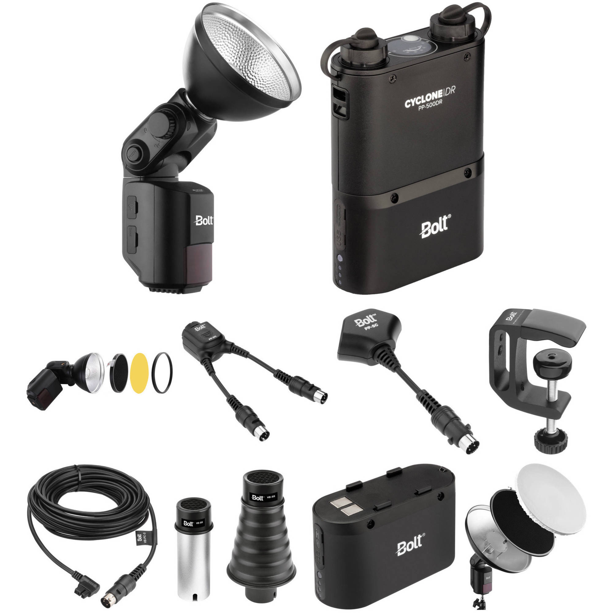 6 Pack Bolt Beauty Dish and Grid Kit for VB-Series Bare-Bulb Flashes