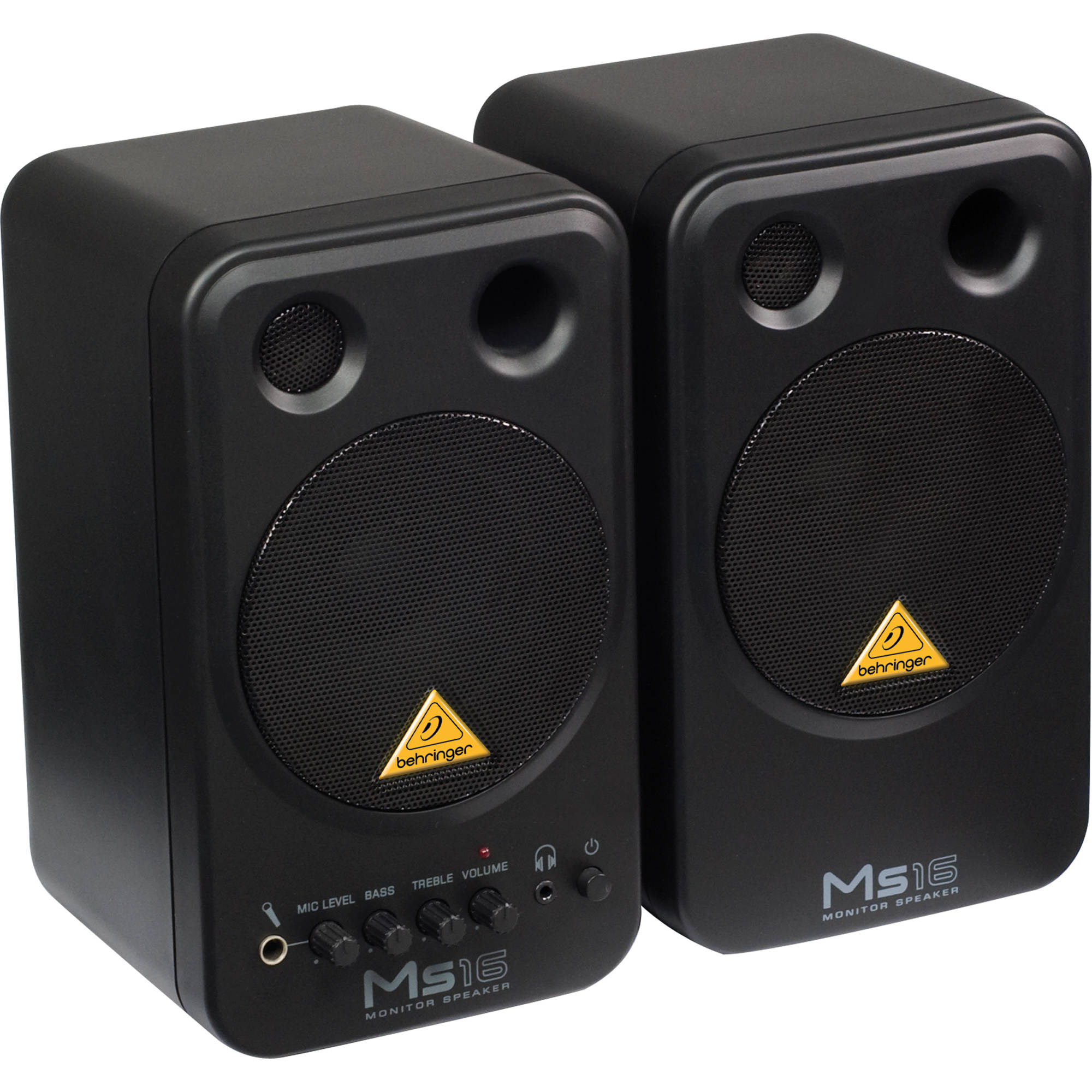 Behringer Ms16 2 Way Active Nearfield Monitors Pair Ms16 B Amp H