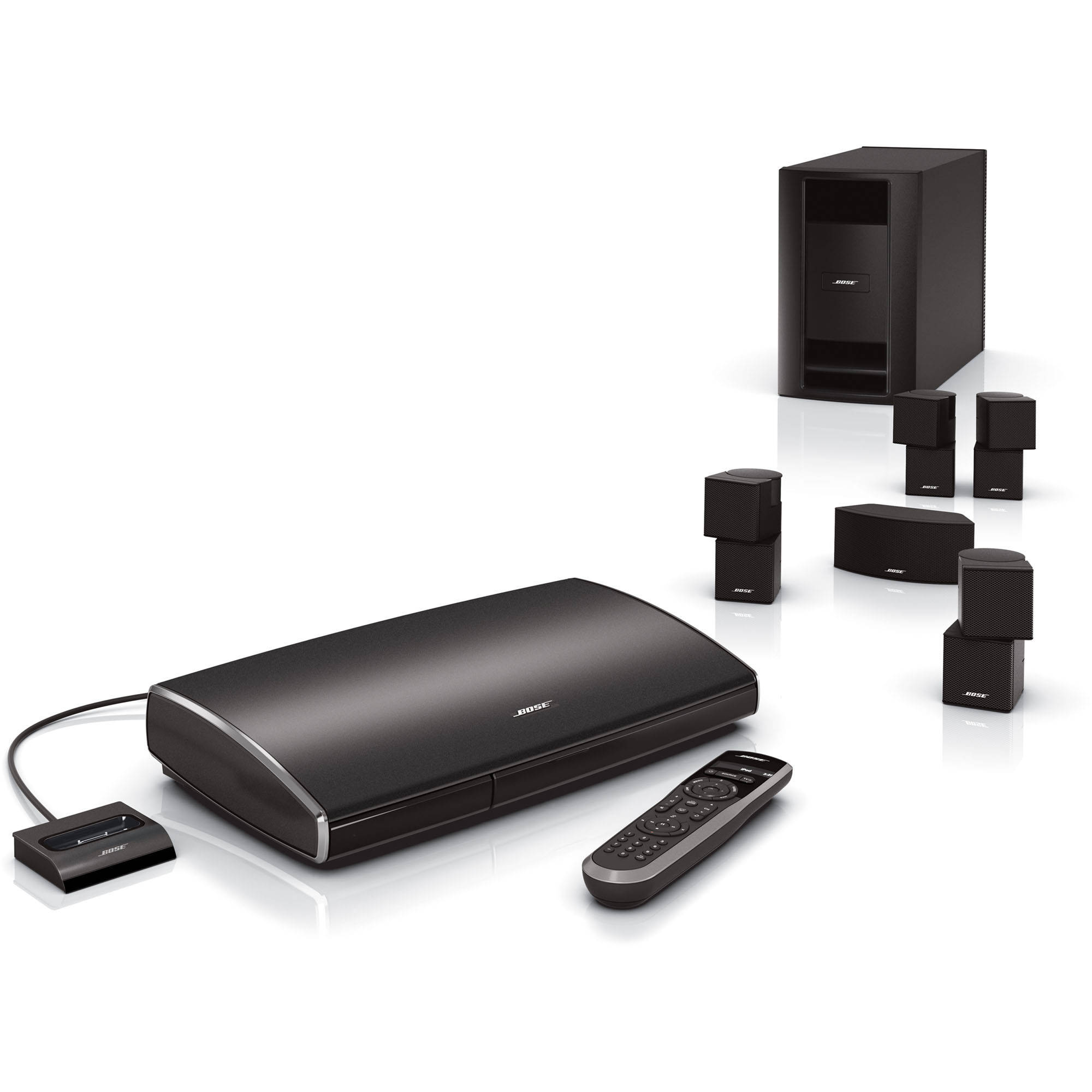 bose lifestyle v35 home entertainment system 317642 1100 b h. Black Bedroom Furniture Sets. Home Design Ideas