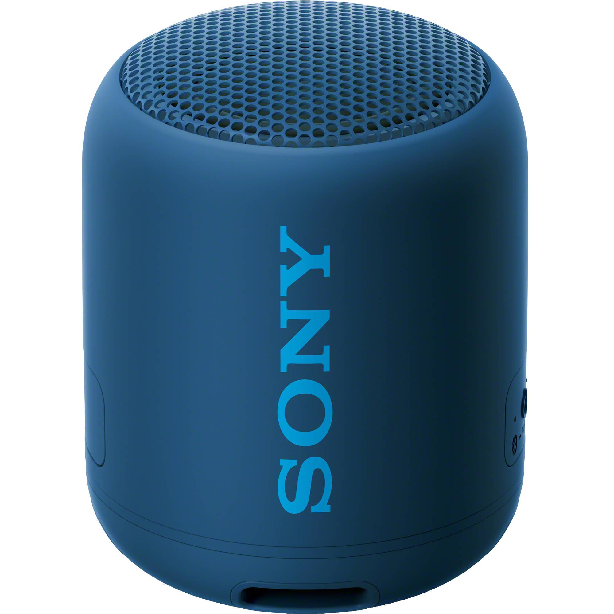 Sony Srs Xb12 Portable Bluetooth Speaker Blue Srsxb12 Lz B H