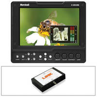 "Marshall Electronics V-LCD56MD 5.6"" On-Camera Monitor Kit with SDI to HDMI Converter"