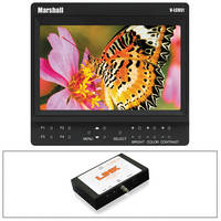 "Marshall Electronics V-LCD51 5"" Monitor Kit with Sony NP-F970 Battery Plate and SDI to HDMI Converter"