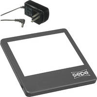 "Gepe 4x5"" LED Slim Lite 5000 Illuminator Kit with AC Adapter (Black)"