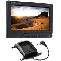 "Elvid FieldVision 7"" On-Camera Monitor Kit with BP-511A and LP-E6 Battery Plates"