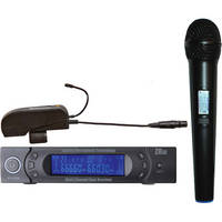 AMT Wi5IICV Wireless Handheld Microphone with Clip-On Transmitter and Dual Receiver