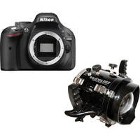 Equinox Underwater Housing and Nikon D5200 DSLR Camera Body Kit with Dome Port for 18-55mm Lens