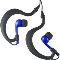 Fitness Technologies UWater Triple Axis Action Stereo Earphones (Black and Blue)