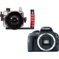 Ikelite Compact TTL Underwater Housing with Canon Rebel SL1 DSLR Camera and 18-55mm f/3.5-5.6 Lens Kit