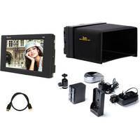 "ikan 5.6"" 3G-SDI HD Monitor with Canon LP-E6 Type Battery, Battery Plate & Sun Hood"