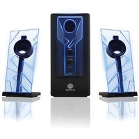 GOgroove BassPULSE 2.1 Stereo Speaker with Powered Subwoofer - Blue/Black