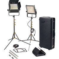 Lowel Prime Location Daylight LED 2-Light Kit with Anton Bauer Gold Battery Mount