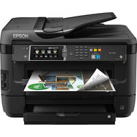 Epson WorkForce WF-7620 Wireless Color Inkjet All-in-One Printer with Duplex (Black)