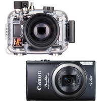 Ikelite Underwater Housing with Canon PowerShot ELPH 340 HS Digital Camera Kit (Black)