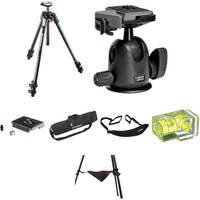 Manfrotto MT190CXPRO3 Carbon Fiber Tripod with 496RC2 Compact Ball Head Deluxe Kit