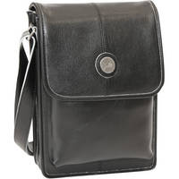 "Jill-E Designs 10"" Metro Tablet Bag (Black/Silver Trim)"