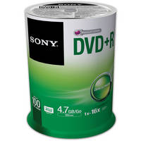 100-Pack Sony 4.7GB/120 16X DVD+R Disc(s) Spindle
