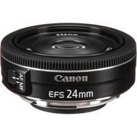 Canon 9522B002 SLR Lenses EF-S 24mm f/2.8 STM Lens (Black) - Manufacturer Refurbished