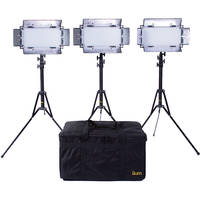 ikan LED 3-Light Studio Kit + 3 x Light Stand + Light Kit Bag