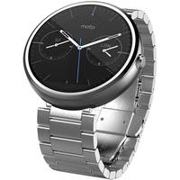 Motorola Moto 360 23mm Android Wear Bluetooth Smartwatch (Stainless Steel/Light Finish) - Refurbished