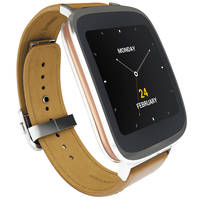 ASUS ZenWatch 4GB 1.2GHz Android Wear Smartwatch (Silver/Rose Gold/Brown) - Manufacturer Refurbished