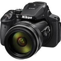 Nikon Coolpix P900 16MP Full HD 1080p Wi-Fi Digital Camera with 83x Optical Zoom (Black) + Spider Tripod + Monopad + EXT BAT + Memory Card