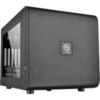 Thermaltake Micro ATX Cube Computer Case Chassis and USB 3.0 (Black)