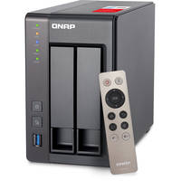 QNAP TS-251 -2G-US 2-Bay Desktop Personal Cloud Network Attached Storage for Windows/Mac with Intel Celeron (Black)