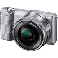Sony Alpha A5000 20.1MP Full HD 1080p Wi-Fi Camera with 16-50mm Retractable Lens (Silver) + Free 8x8 Photo Book