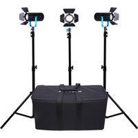 Dracast Boltray LED600 Plus 3-Light Kit Daylight LED Light + Dracast 2200 Mah Battery Kit