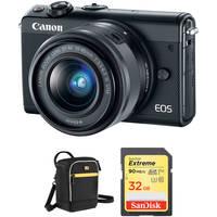 Canon EOS M100 Mirrorless Digital Camera + Printer + Accessories Kit