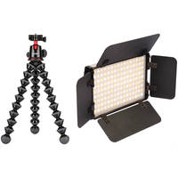 Joby GorillaPod 5K Tripod Kit with Ball Head + Genaray LED On-Camera Light