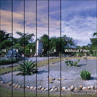 """LEE Filters 4x6"""" Graduated Coral 9 Resin Filter - Hard Edge"""