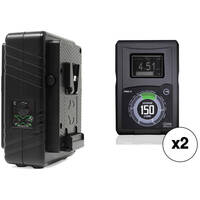 Core SWX HyperCore 150 V-Mount 2-Battery Kit + Core SWX GPM-X2S Mini Dual Travel Battery Charger (V-Mount)
