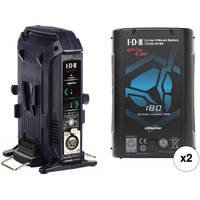 2-Pack IDX System Technology 179Wh V-Mount Batteries + IDX System Technology VL-2X 2-Channel V-Mount Charger & Power Supply
