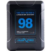 2-PK IndiPRO Tools Micro-Series V-Mount Li-Ion Battery + Battery Charger