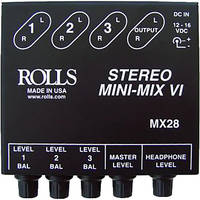 Rolls MX28 Compact Stereo Line Mixer