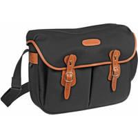 Billingham Hadley Shoulder Bag, Large (Black with Tan Leather Trim)