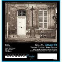 "Bergger VC-CB Warm Tone Black & White Variable Contrast Fiber Base Double Weight Paper -8x10"" (Glossy) (25 Sheets)"
