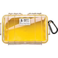 Pelican 1050 Clear Micro Case (Yellow)