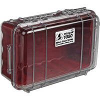 Pelican 1050 Clear Micro Case (Red)