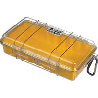 Pelican 1060 Clear Micro Case (Yellow)
