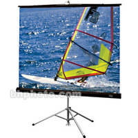"Draper Diplomat Portable Tripod Screen - 69 x 92"" - HC Gray"